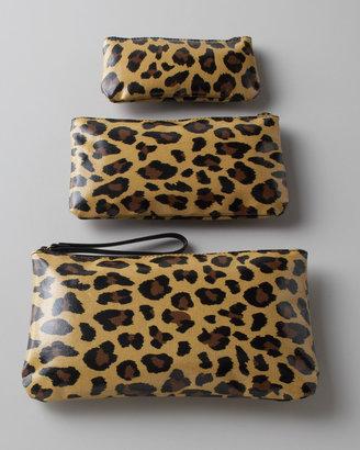 "Jane Marvel Three ""Leopard"" Cosmetic Bags"