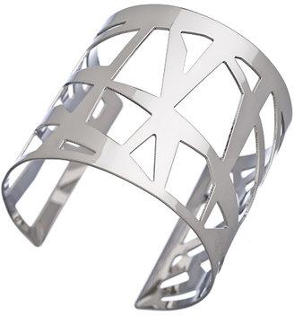 Blu Bijoux Silver Polygon Cuff Bracelet