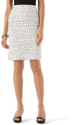 White House Black Market Our Soft Dot Pencil Skirt