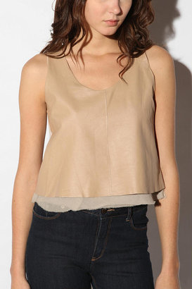 Urban Outfitters Line & Dot Leather Crop Tank
