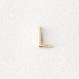 Maya Brenner DESIGNS mini letter stud earring - l