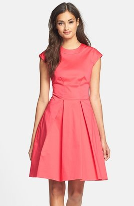 Kate Spade 'vail' Cotton Blend Fit & Flare Dress