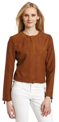 Vince Camuto Women's Cascade Front Suede Jacket