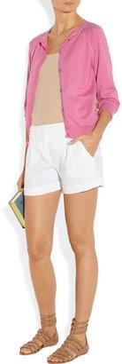 Nina Ricci Silk-paneled cotton and cashmere-blend cardigan
