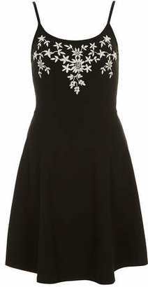 Dorothy Perkins Black embroidered cami dress