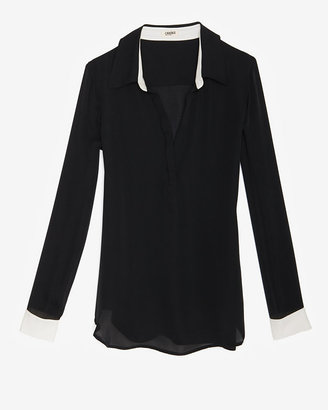 L'Agence Colorblock Pullover Blouse