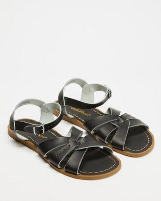Saltwater Sandals - Women's Black Flat Sandals - Womens Original Sandals - Size 9 at The Iconic