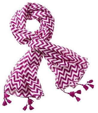 Merona Pink Chevron Scarf - White/Pink
