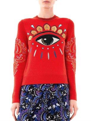 Kenzo Lotus-eye embroidered sweater