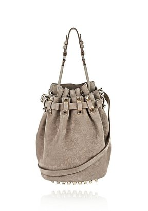 Alexander Wang Diego In Tumbled Elephant With Pale Gold