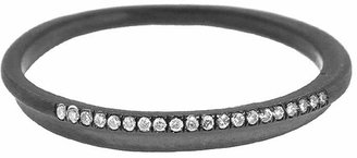 Ten Thousand Things Pave Diamond Fine Band Ring - Rhodium