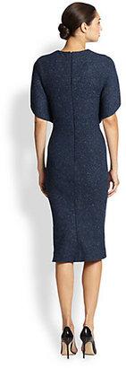 Zac Posen Tweed Capelet Dress