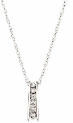 TruMiracle Round Diamond Pendant Necklace in Sterling Silver (1/10 ct. t.w.)