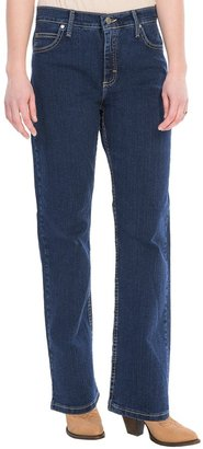 Relaxed Fit Straight Leg Jeans (For Women)
