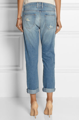 Current/Elliott The Fling patchwork mid-rise boyfriend jeans