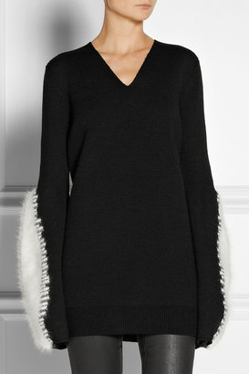 Rick Owens Angora-trimmed wool sweater