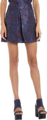 Timo Weiland Pleated Front Abstract Jacquard Skirt