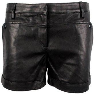 Tibi Leather Paneled Shorts