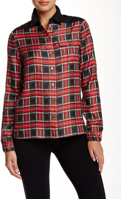 L.A.M.B. Quilted Patch Silk Tartan Blouse $298 thestylecure.com