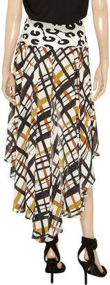 Norma Kamali Printed chiffon skirt
