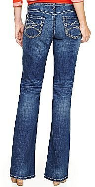 JCPenney a.n.a® Thick-Stitch Bootcut Jeans -Petites