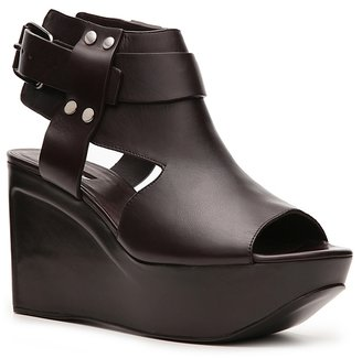 Calvin Klein Collection Phoebe Leather Wedge Sandal