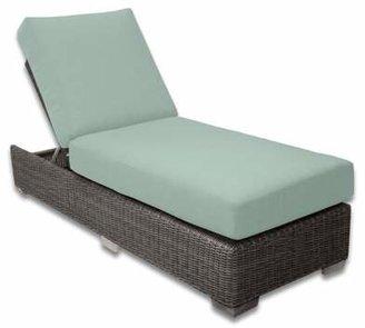 Patio Heaven Palisades Chaise Lounge Patio Heaven Cushion Color: Mist