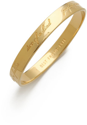 Kate Spade Engraved Bridesmaid Bangle Bracelet