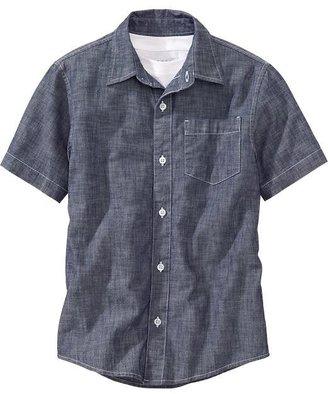 Old Navy Boys Short-Sleeve Chambray Shirts