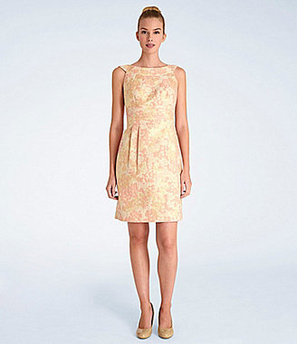 Tahari by Arthur S. Levine Tahari By Asl Metallic Jacquard Sheath Dress