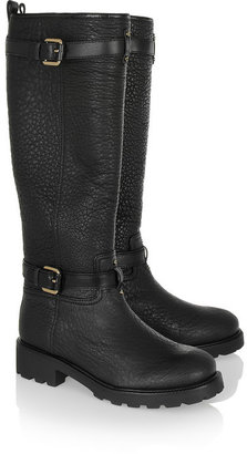 Tory Burch Barrett textured-leather knee boots