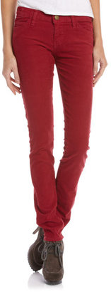 Current/Elliott Skinny Corduroy Pants, Vintage Crimson