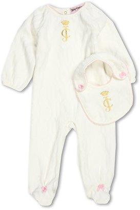 Juicy Couture Footie w/ Bib (Infant) (Angel) - Apparel