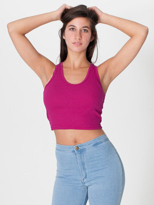 American Apparel 2x1 Racerback Cropped Tank