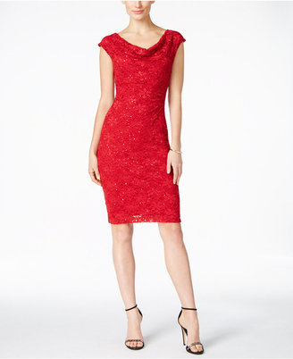 Connected Sequined Lace Sheath Dress $89 thestylecure.com