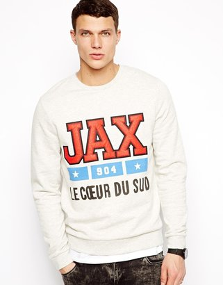 Asos Sweatshirt With Print and Embroidery