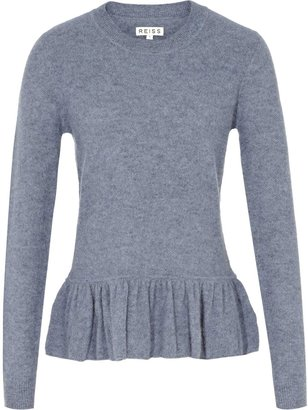 Reiss Melanie TEXTURED PEPLUM JUMPER