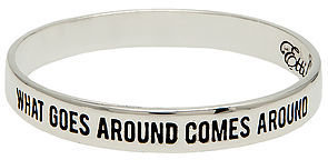 Ettika The What Goes Around Comes Around Bangle in Gold