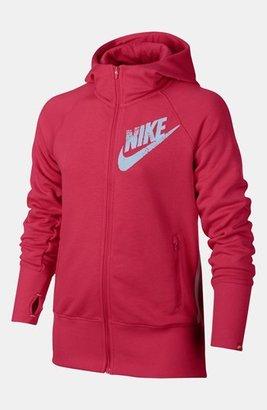 Nike 'Heritage' Hoodie (Big Girls) Fusion Red X-Large