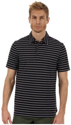Michael Kors Short Sleeve Stripe Pique Polo (Black) - Apparel