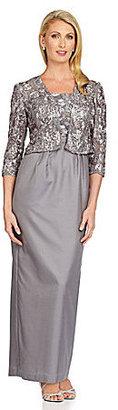 Alex Evenings Lace-Top Jacket Dress