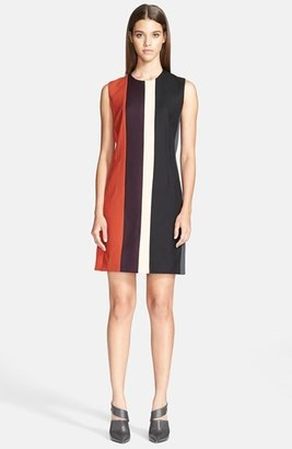 Narciso Rodriguez Pieced Wool Crepe Dress