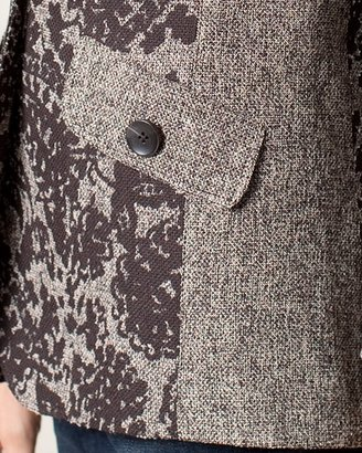 Coldwater Creek Printed tweed jacket