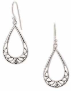 Celtic Serpentina Silver Open Work Teardrop Earrings