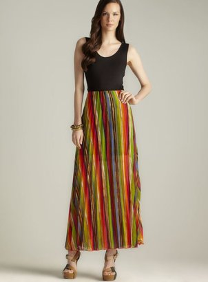 Romeo & Juliet Couture Pleated Mixed Media maxi Dress