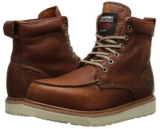 Timberland r) 6 Wedge (Rust Full-Grain Leather) Men's Work Lace-up Boots