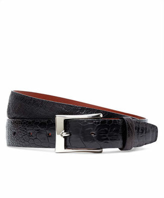 Brooks Brothers Black Ostrich Leather Belt