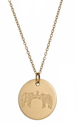 Emily and Ashley Double Elephant Pendant Necklace