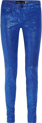 Notify Jeans Bamboo glitter-finish stretch-leather skinny pants