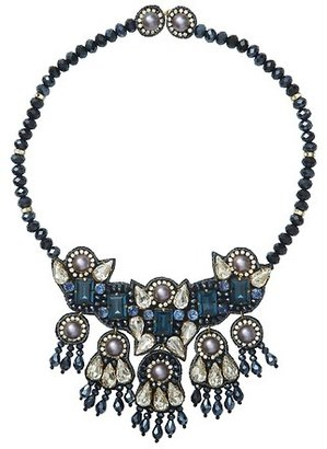 LOFT Suzanna Dai for Short Blue Bead Necklace